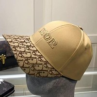 Dior men's and women's letters embroidery printed cap baseball cap