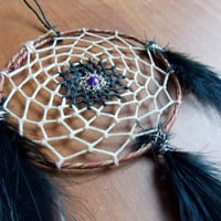 Boho Dream Catcher with Freshwater Pearl // Christmas Gift Dorm Room Southwestern Decor
