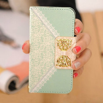 Ulamore Fashion Fresh Cute Flip Wallet Leather Case = 1931658436