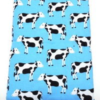 Fabric, Robert Kaufman,  Managerie, Cows,  by the yard cut, craft supply