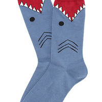 The Shark Socks in Slate Blue