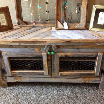 Rex Crown Reclaimed Barn Wood Rustic Style 42'' TV Stand/Sofa Table