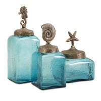 Sea Life Canisters- Set of 3