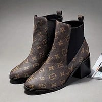 LV Louis Vuitton Women Fashion High Heels Boots Shoes
