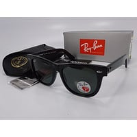 Ray Ban Wayfarer RB2140 901/58 Large Frame Green Polarized 54mm