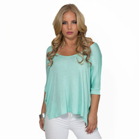 Freedom Jersey Blouse In Mint