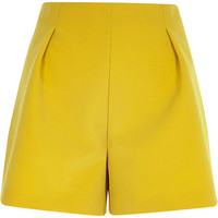 River Island Womens Lime green tailored smart shorts
