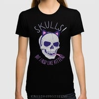 Skulls and Kittens Short sleeves Character Knitted tees Clothing