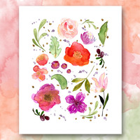 Floral Watercolor Printable
