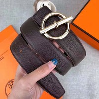 Hermes Tide brand men's and women's retro simple and versatile belt