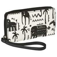 Xhilaration® Print Cell Phone Wallet Case with Wristlet Strap - Black/Ivory
