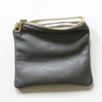 five inch small pouch wallet graphite by renneslechateau on Etsy