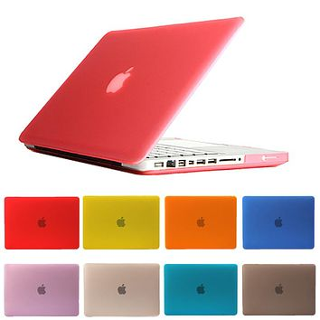For Macbook Air 11 13 Pro 13 15 Pro Retina 12 Laptop Case New Hard Crystal/Matte Frosted Full Protective Laptop Sleeve Cover