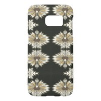 Vintage Floral in Gold and Black Samsung Galaxy S7 Case