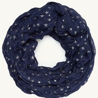 Sparkly Stars Crinkle Infinity Scarf