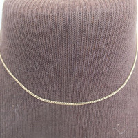 """Vintage Dixelle 120th 12K Gold Chain Necklace, 14"""" Length, 1/16"""" Width, Beautiful Precious Metal Jewelry, Free Shipping  and Gift Box"""