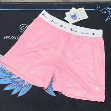 Champion Summer Popular Women Casual Breathable Shorts Pink