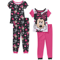 Walmart: Minnie Mouse Baby Toddler Girl Cotton Tight Fit Short Sleeve PJs, 2-Sets