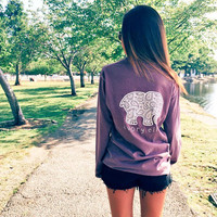 Classic Fit Lilac Paisley Tee