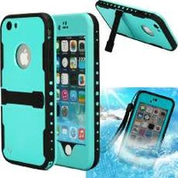 """iPhone 6 Case,iPhone 6 New Waterproof Case,Sophia Shop Touch ID IP-68 Waterproof Dirtproof Snowproof Triple Layer Kick-Stand Armor Durable Full Sealed Protection Case Cover for Apple iPhone 6 4.7""""+ with Free Screen Protector (Purple)"""