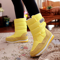 Free shipping  2016 new winter thickening women's shoes snow boots thermal shoes women's boots slip-resistant waterproof boots