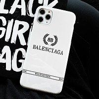 Balenciaga BB Apple iphone11Pro Max mobile phone shell XR/7/8plus/Xs matte soft cover protective cover