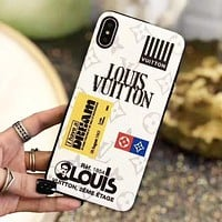 Louis Vuitton LV Fashion New Monogram Letter Print Women Men Protective Cover Phone Case White