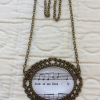 Phantom of the Opera sheet music necklace (Think of Me)