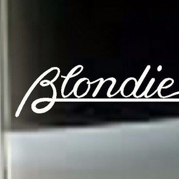 Blondie MUSIC BAND VINYL DECAL STICKER CAR TRUCK LAPTOP WHITE
