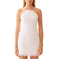 Lilly Pulitzer Katie Cut-In Fitted Lace Dress