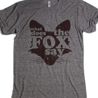 what does the fox say-Unisex Athletic Grey T-Shirt