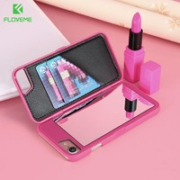 For iPhone 6 Case,FLOVEME Fashion Flip Mirror Phone Cases for iPhone 6 6s Plus 7 7 Plus Case Creative Water Pattern Phone Cover