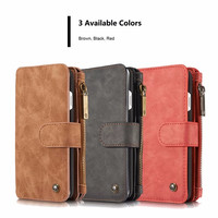 Origin CaseMe 2 in 1 Luxury Leather Magnetic Wallet Case for iPhone 5s SE 6s plus 7 7plus Flip Cover With Card Holder Phone Bag