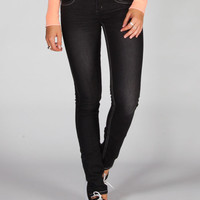 Almost Famous X Stitch Womens Skinny Jeans Black Denim  In Sizes