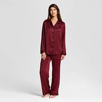 Women's Sleep Satin Pajama Set Berry Cobbler - Gilligan & O'Malley™