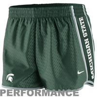Nike Michigan State Spartans Womens Chainmaille Pacer Performance Shorts - Green