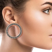 Versace Style Round Earrings