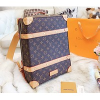 Bunchsun LV Louis Vuitton Newest Fashion Men Women Casual Leather Travel Bookbag School Bag Backpack Shoulder Bag
