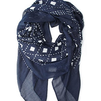 Abstract Geo Print Scarf