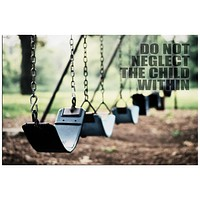 Child Within Inspirational Quote Rolled Canvas Wall Art