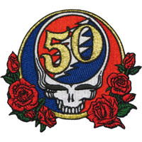 Grateful Dead Iron-On Patch 50th Anniversary Logo