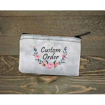 Personalized Coin Purse | Custom Bags | Custom Order