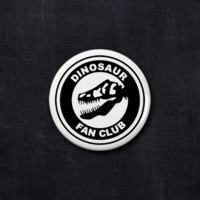 Dinosaur fan club button