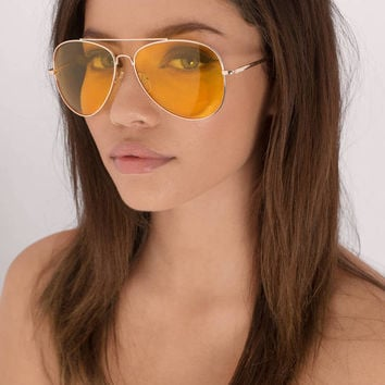 All About It Aviator Sunglasses