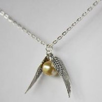 Harry Potter Jewelry Golden Snitch Necklace