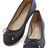 ModCloth All That and Winsome Flat in Black