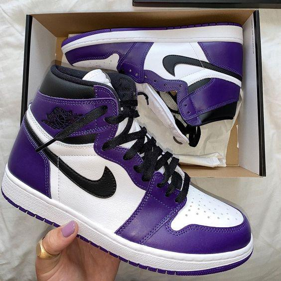 Image of NIKE Air Jordan 1 Mid AJ1 Color stitching mid top shoes