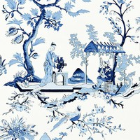 Scalamandre Wallpaper WP81212-012 Ch'in Ling Porcelain