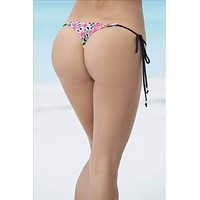 Mapale Micro Side Tie Thong Bottom Swimwear Separate ( Many colors available)