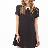 FOREVER 21 Colorblocked Collared Dress